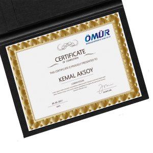 sertifika baskı